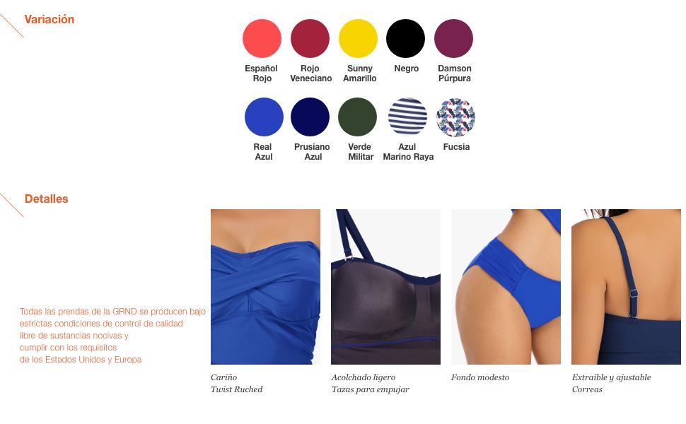 Traje de baño Bandeau Tankini para mujeres Bikini Twist frontal Traje de baño