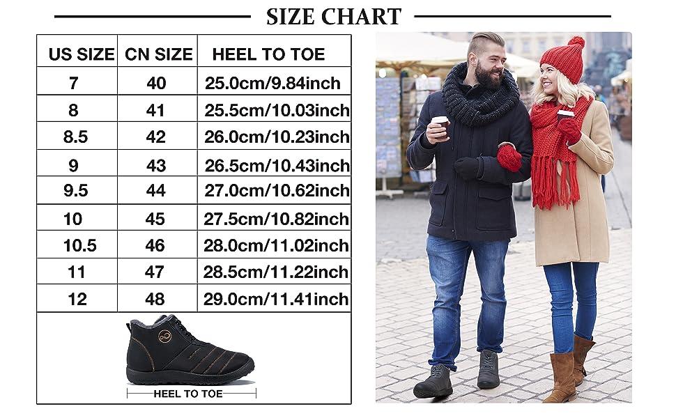 men's hiking ankle booties snow boots slip on water resistant waterproof keep dry anti-skip