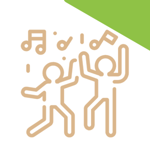 dancing kids with music