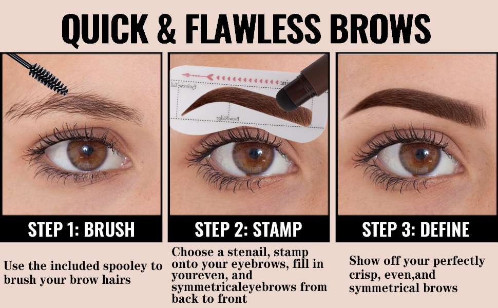 How to use eyebrow stamp