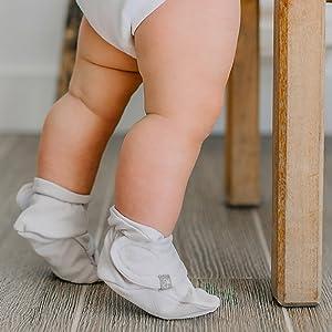 Non-slip baby socks or booties.