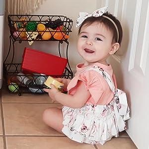infant girl shorts set summer