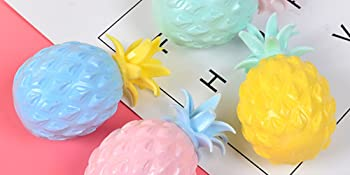 4 Pcs Pineapple Stress Ball, Fidget Toys Ball for Pressure Release Party Gifts