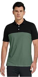 Mens Two Tone Summer Polo Shirt