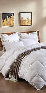 luxury goose feather down comforter duvet insert