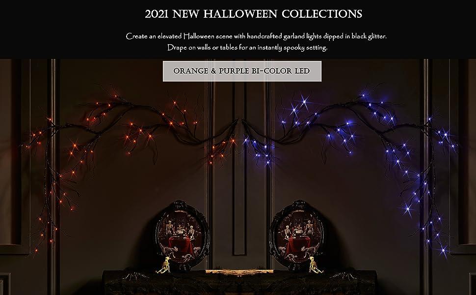 halloween garland lights