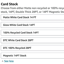 gloss recycled magnetic cards customizable