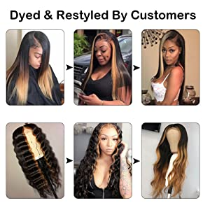 deep wave wigs can be dyed