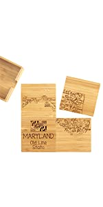 Maryland Puzzle Coasters