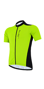 Men's Cycling Jersey Bicycle Short Sleeved Bicycle Jacket with Pockets Cycling Jersey Short Sleeve