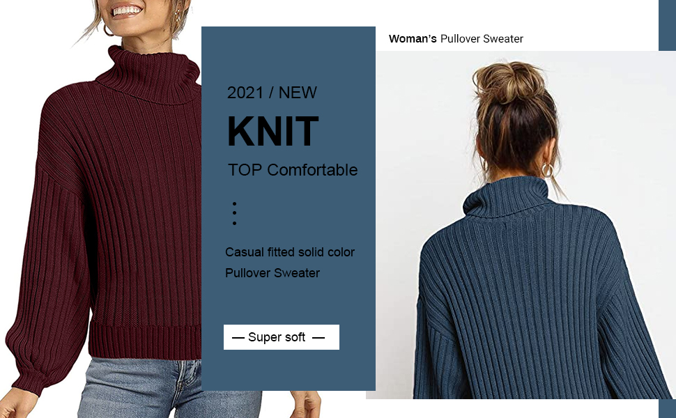 2021/new ribbed knit pullover sweater