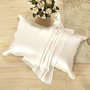 2 silk pillowcases