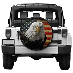 Hitamus I Go Where I'm Towed Spare Tire Cover for Jeep Wrangler RV SUV Camper Travel Trailer