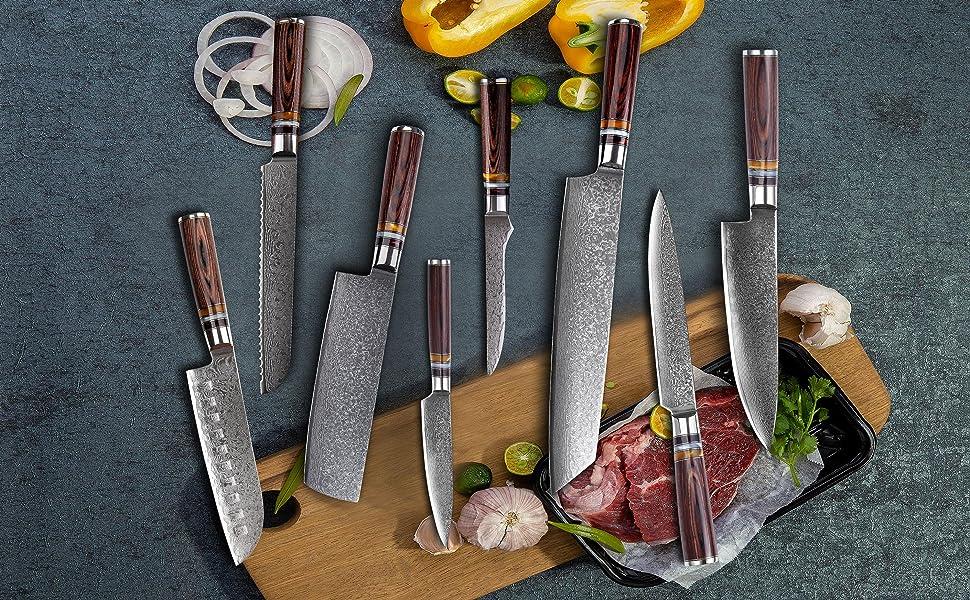 Couteau de Cuisine, 8 Pouces Couteau de Chef Professionnel