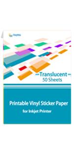 Translucent Printable Vinyl Sticker Paper