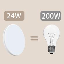 Plafonnier led étanche Öuesen 24W 4000K 2250lm au lieu d'une lampe à incandescence 200w