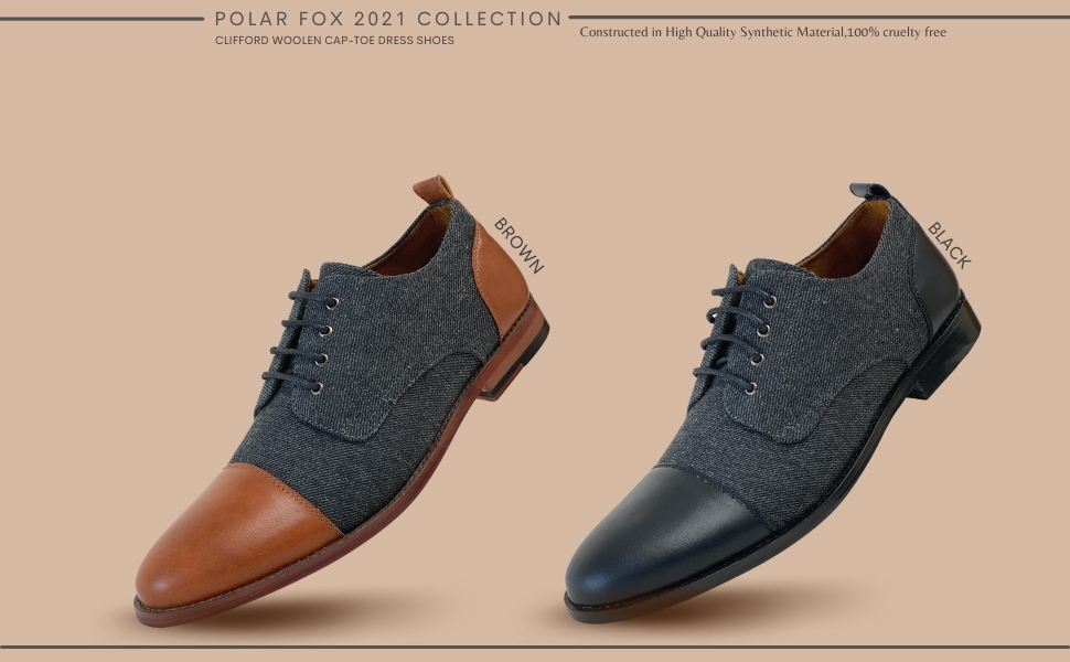 CLIFFORD, dress shoes, oxford shoes, casual work shoes, casual dress shoes, two-tone dress shoes