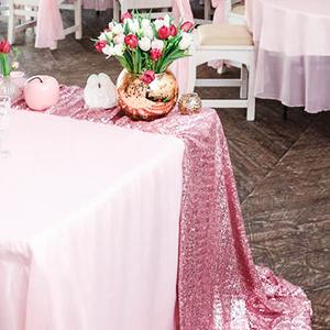 pink sequin tablecloths