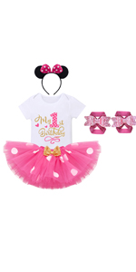 mouse 1st birthday outfits baby girls mouse themed 1st birthday party supplies