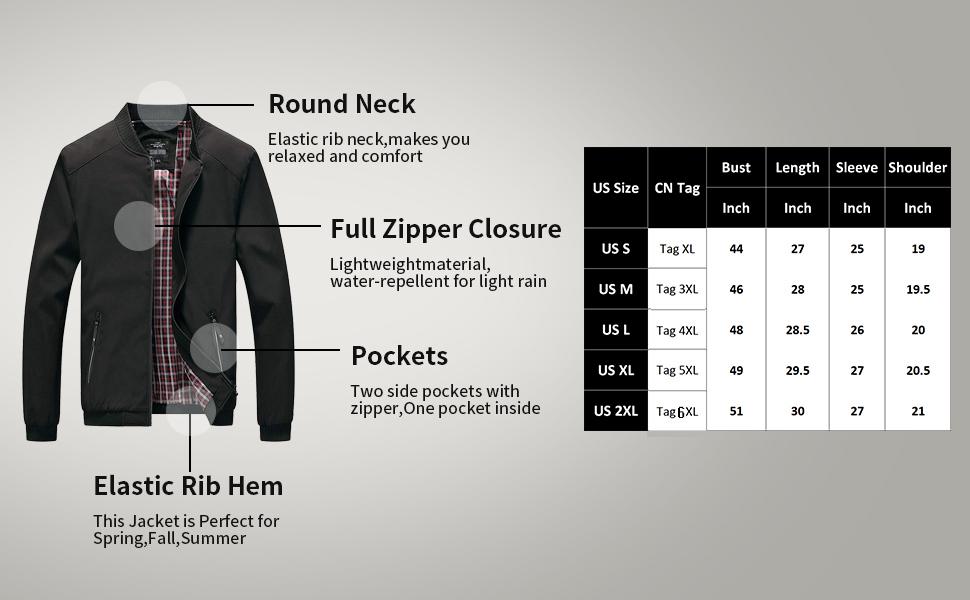 men round neck jacket