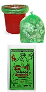 Medium Size Green Colored Garbage Bags