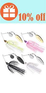 spinner bait bass fishing lure fishing jigs lures