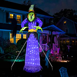 EAMBRITE 10FT Halloween Inflatable Witch
