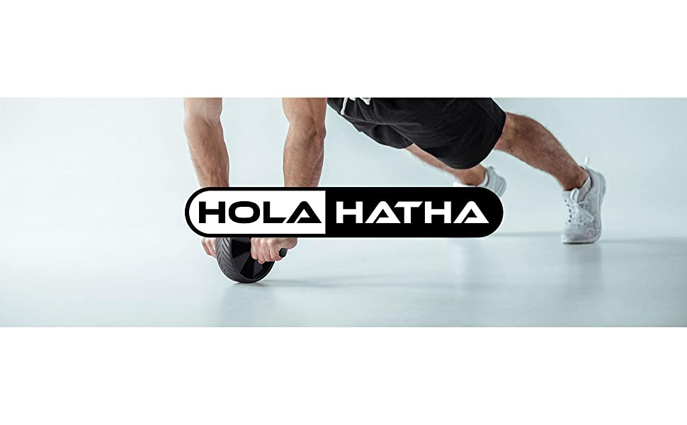 HolaHatha Resistance Band 110lb Maximum Workout Set with 5 Bands and 2 Handles