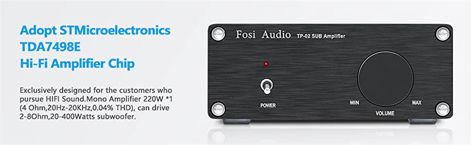 Fosi Audio TP-02 Mini Compact Subwoofer Amplifier