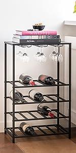 wijnrek, metaal, lifa living, industrieel, wijnglazen, wijnfles