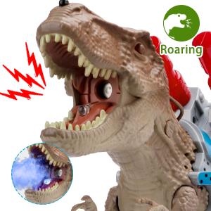 Realistic toy dinosaur TREX is roaring