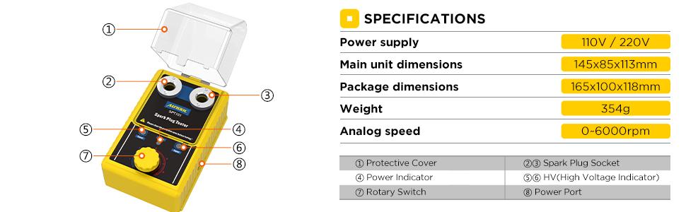 AUTOOL SPT101 Car Spark Plug Tester