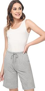 womens sleep shorts bamboo viscose pajamas shorts soft lounge shorts pants comfy sleepwear bottoms