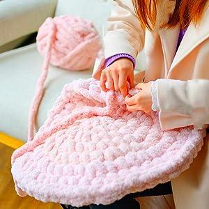 hand knitting bit stitch loose stitch crochet