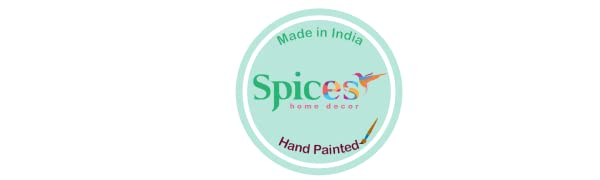spices home decor - hand painted - made in india