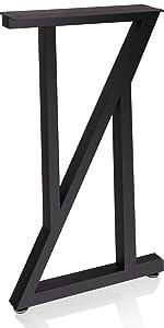 z shape table legs