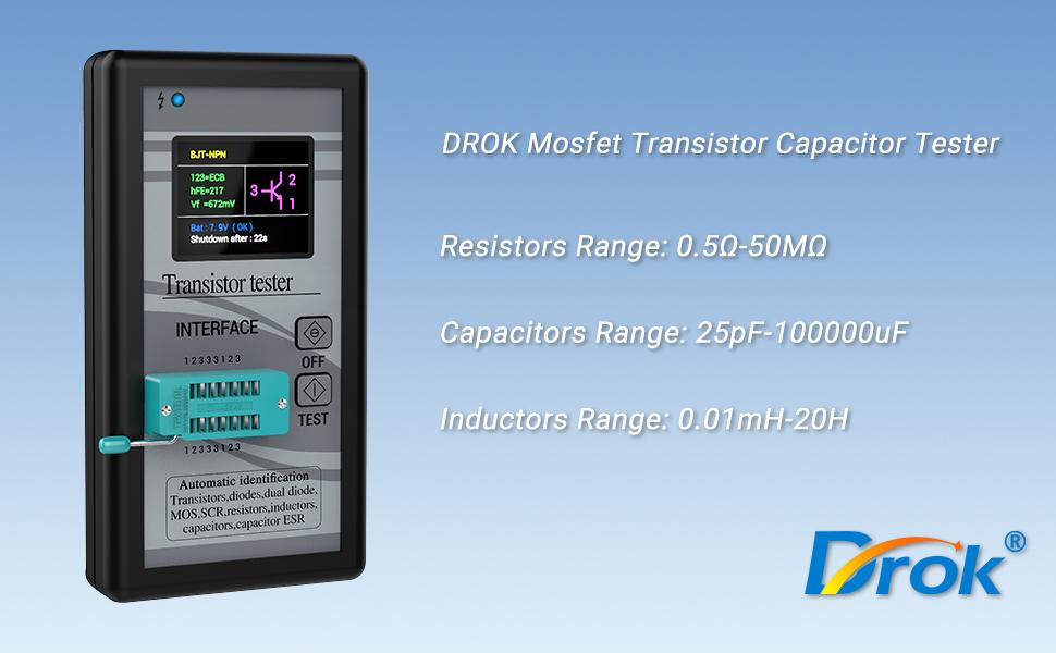 DROK Capacity Tester