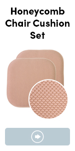 Memory foam chair cushion with honeycomb design