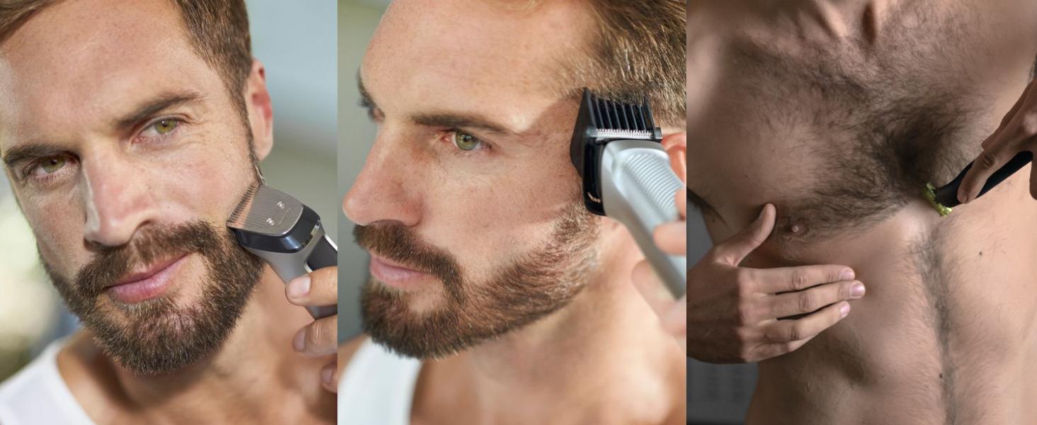 Trimma och styla ansikte, hår och kropp med 12 verktyg