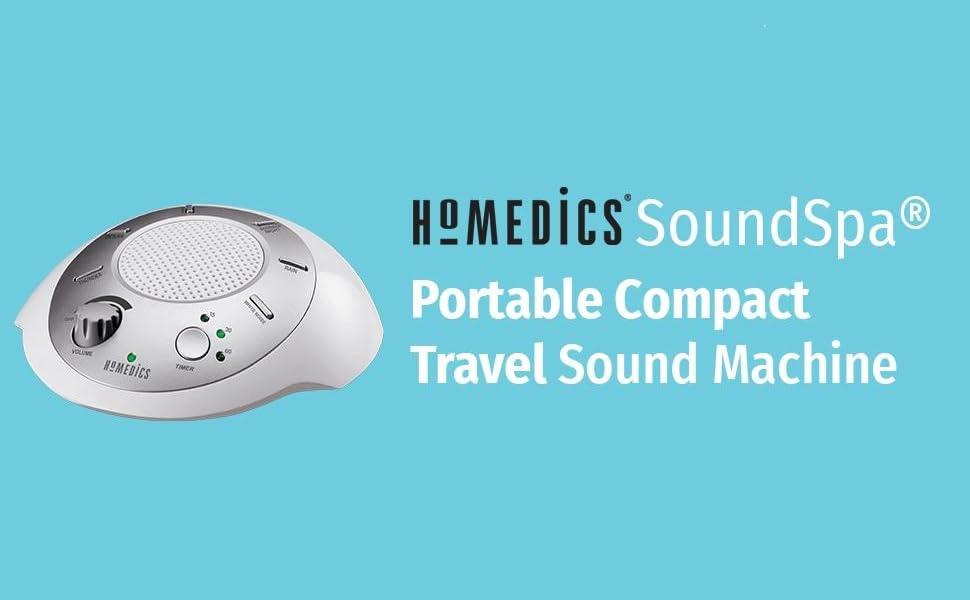 Homedics sound machine sound spa white noise