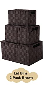 storage basket with lid