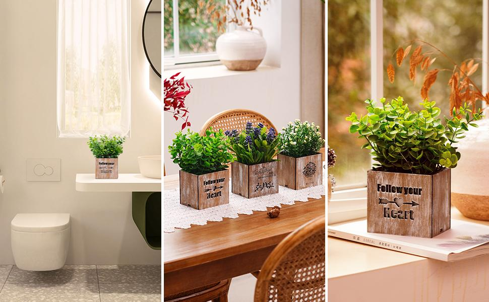 small artificial plants for home decor indoor