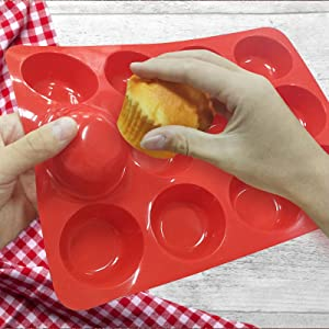 silicone cupcake pan with nonstick for quick release of homemade baking