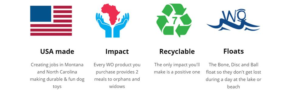WO banner USA made impact recyclable floats