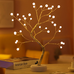 artificial bonsai led lights last for several hours and work during power outages
