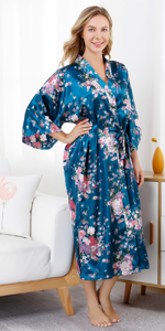 womens long floral robes