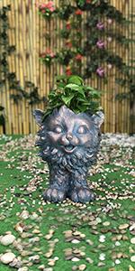 cat planter pot