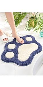 cat foot bath rug