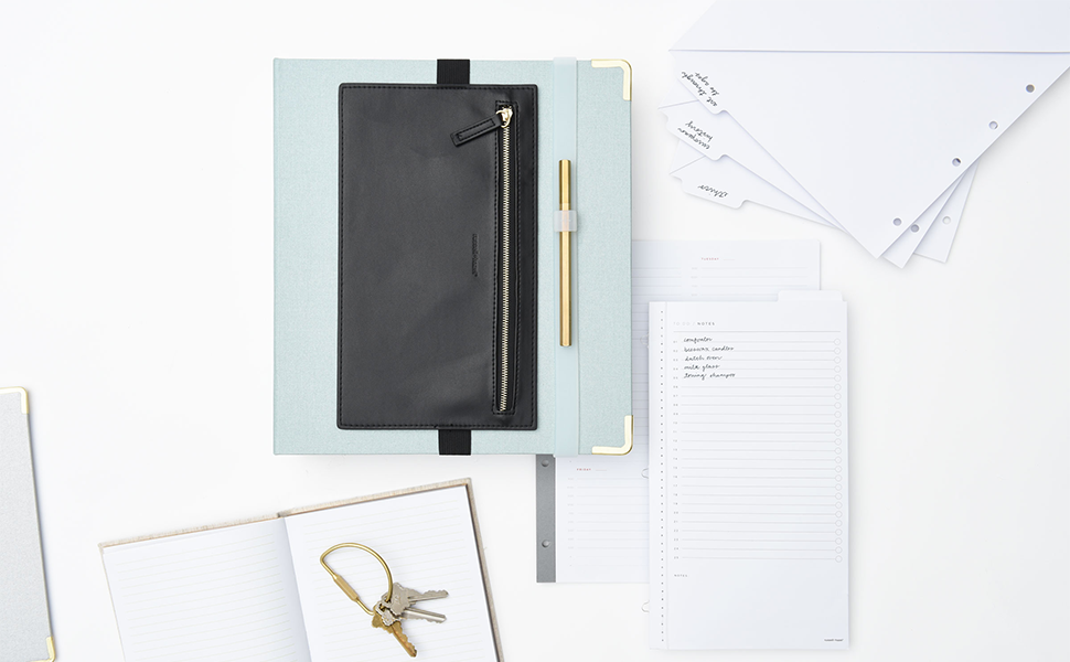 lifestyle image of the binder