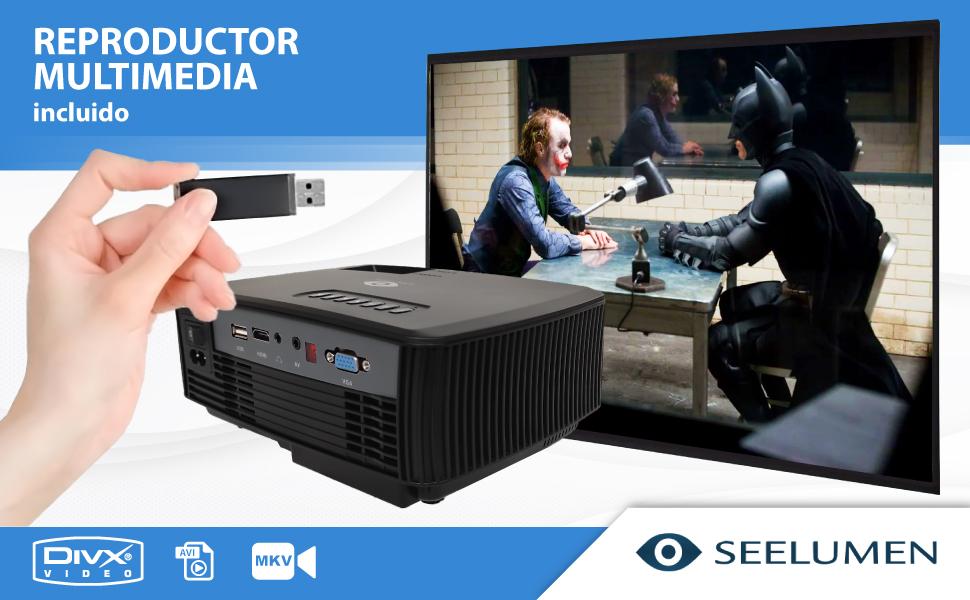 proyector multimedia, proyector cine en casa, proyector de led, proyector seelumen